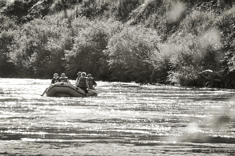 Rafting on the Deschutes River in Maupin, Oregon